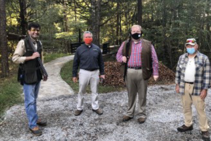 Listen Observe Learn - Justin Crowe, 4-H Youth Development Director and State Leader, Dr. Senseman, Interim Extension Dean, Dr. Jim Byford, retired State 4-H Leader, Jason Maxon, TWRA and Evan Beech